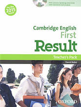 Cambridge English: First Result Teacher's Pack with DVD / Книга для учителя