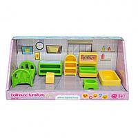 """Набор мебели для кукол Tigres """"Спальня"""", кровать, этажерка, комод, телевизор, 7 элементов, 39697"""