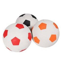 М'яч футбольний, гумовий, асфальт, 3 кольори, BT-FB-0203