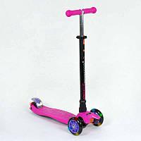 Самокат Best Scooter MAXI, розовый, пластмассовый, свет, 466-113/A24437