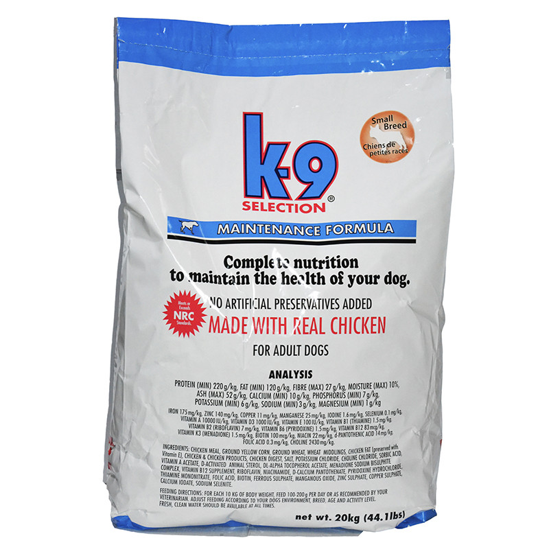 Сухой корм для собак средних пород K-9 Selection Medium Breed 20 кг