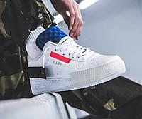 Кроссовки Nike Air Force 1  White Red Orbit Black