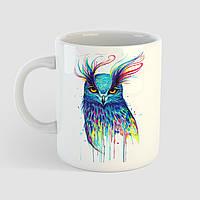Кружка с принтом Сова арт. Owl art. Чашка с фото, фото 1