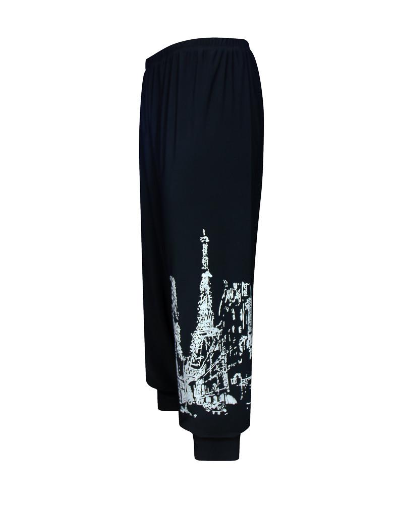 Бриджи капри женские больших размеров Париж