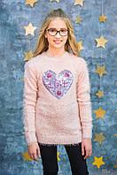 Свитер нежно-розового цвета из мягкой пряжи для девочки (164 см.)  Miss Blaze 6307881325609