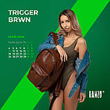 Рюкзак шкіряний чоловічий TRIGGER BRWN коричневий WLKR, фото 10