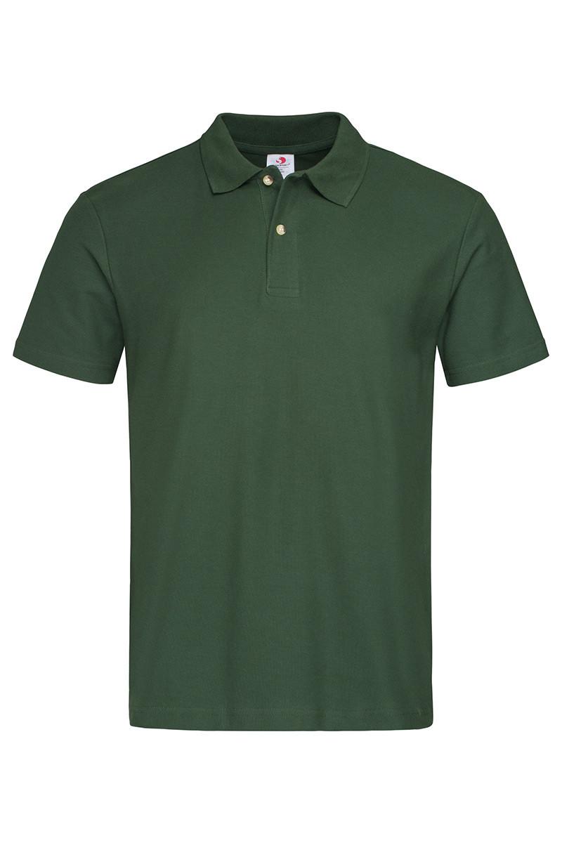 Футболка поло polo мужская зеленая Stedman - BGСТ3000