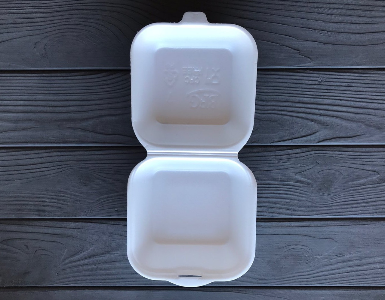 Ланч-бокс одноразовый белый HB7 135x135x70 мм
