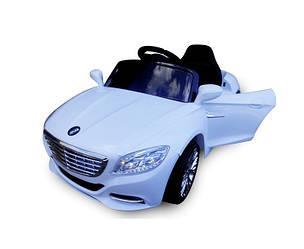 Электромобиль детский Cabrio S1 мягкие EVA колеса. Цвет - белый.