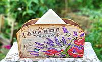 Салфетница на стол, салфетница с цветами,салфетница с лавандой, шеби шик, подарок для настроения Ручная работа