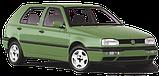 Амортизатор задній VW GOLF III (91-) олійний / задні стійки гольф 3, фото 3