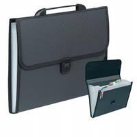 Папка-портфель  F/C 12 отд. D1945 черная
