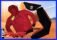 Мужской спортивный костюм с капюшоном, Off White  весна/лето/осень (черный-желтый) + сумка в ПОДАРОК