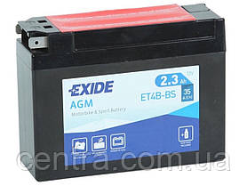 Мото аккумулятор EXIDE ET4B-BS 2.3Ah