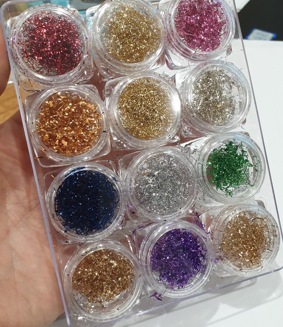 Суха павутинка набір 12 кольорів
