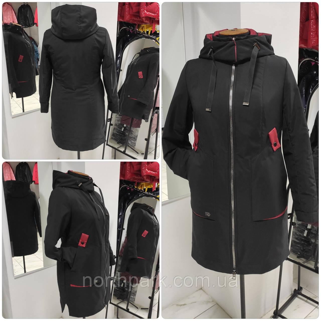Стильная удлинённая демисезонная куртка Solo SV-3