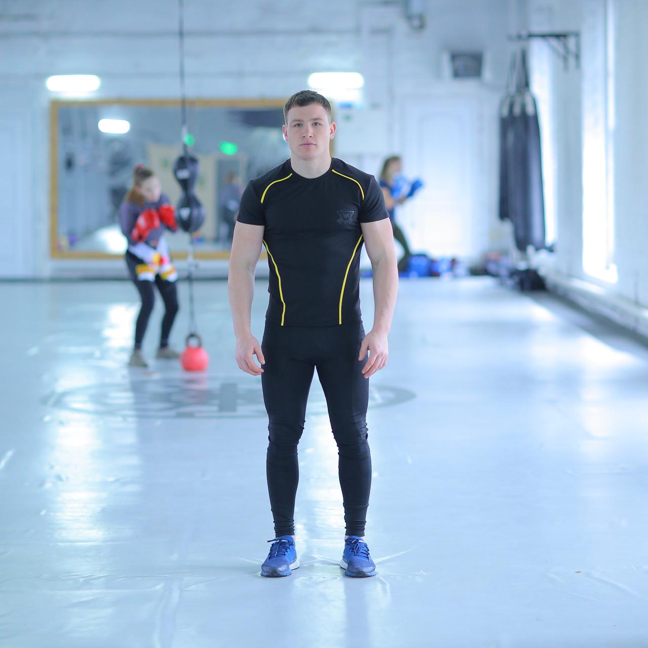 Мужская спортивная футболка fitU Glory black FitU