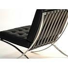 Кресло Барселона, мягкое, нержавеющая сталь, экокожа, цвет черный, фото 2
