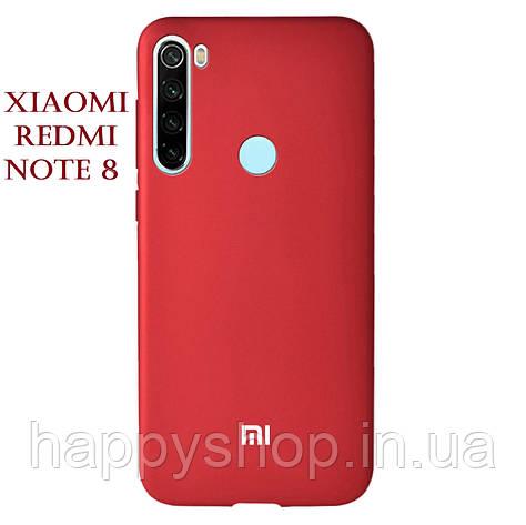 Чохол-накладка Soft-touch logo series для Xiaomi Redmi Note 8 (Червоний/Dark Red), фото 2