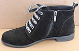 Ботинки женские на байке замшевые от производителя модель БД300-1, фото 3