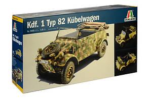 Kdf. 1 Typ 82 Kübelwagen. Сборная модель немецкого военного автомобиля. 1/9 ITALERI 7405