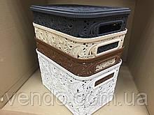Контейнер с крышкой для хранения мелочей АЖУР ELIF 7.5 л