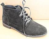 Ботинки женские на байке замшевые от производителя модель БД300-2, фото 2