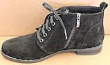 Ботинки женские на байке замшевые от производителя модель БД300-2, фото 3