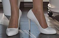 Туфли лодочки женские белые на шпильке Lino Marano, каблук 10,5 сантиметров. Размеры 35, 37, 38.