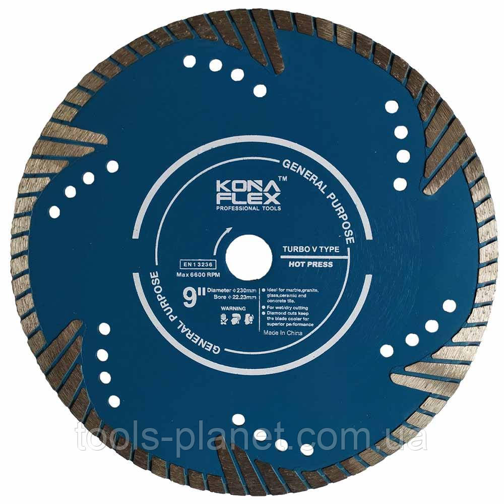 Алмазний диск Kona Flex 230 х 3,2 х 9(30) х 22,2 Глибокий рез