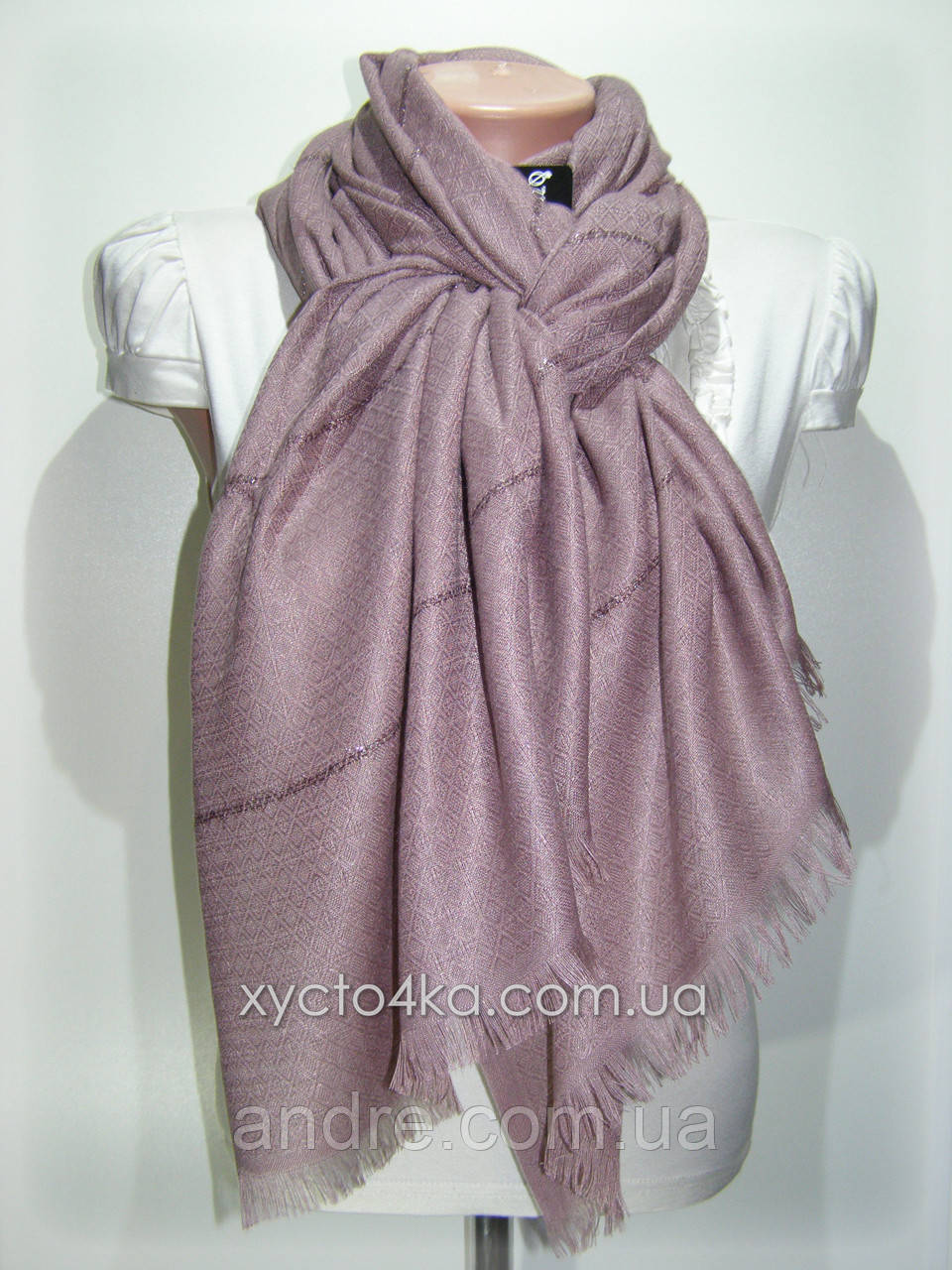 Однотонный шарф с люрексом Моника