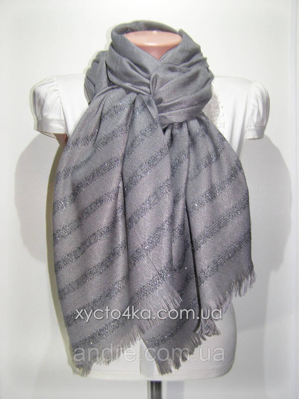 Однотонный шарф с люрексом Моника, серый