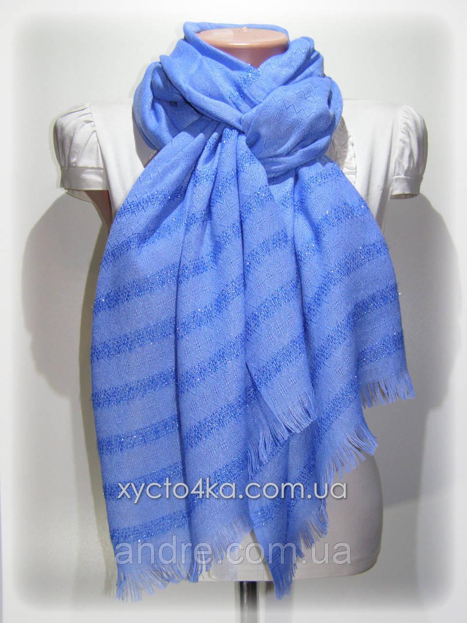 Однотонный шарф с люрексом Моника, синий