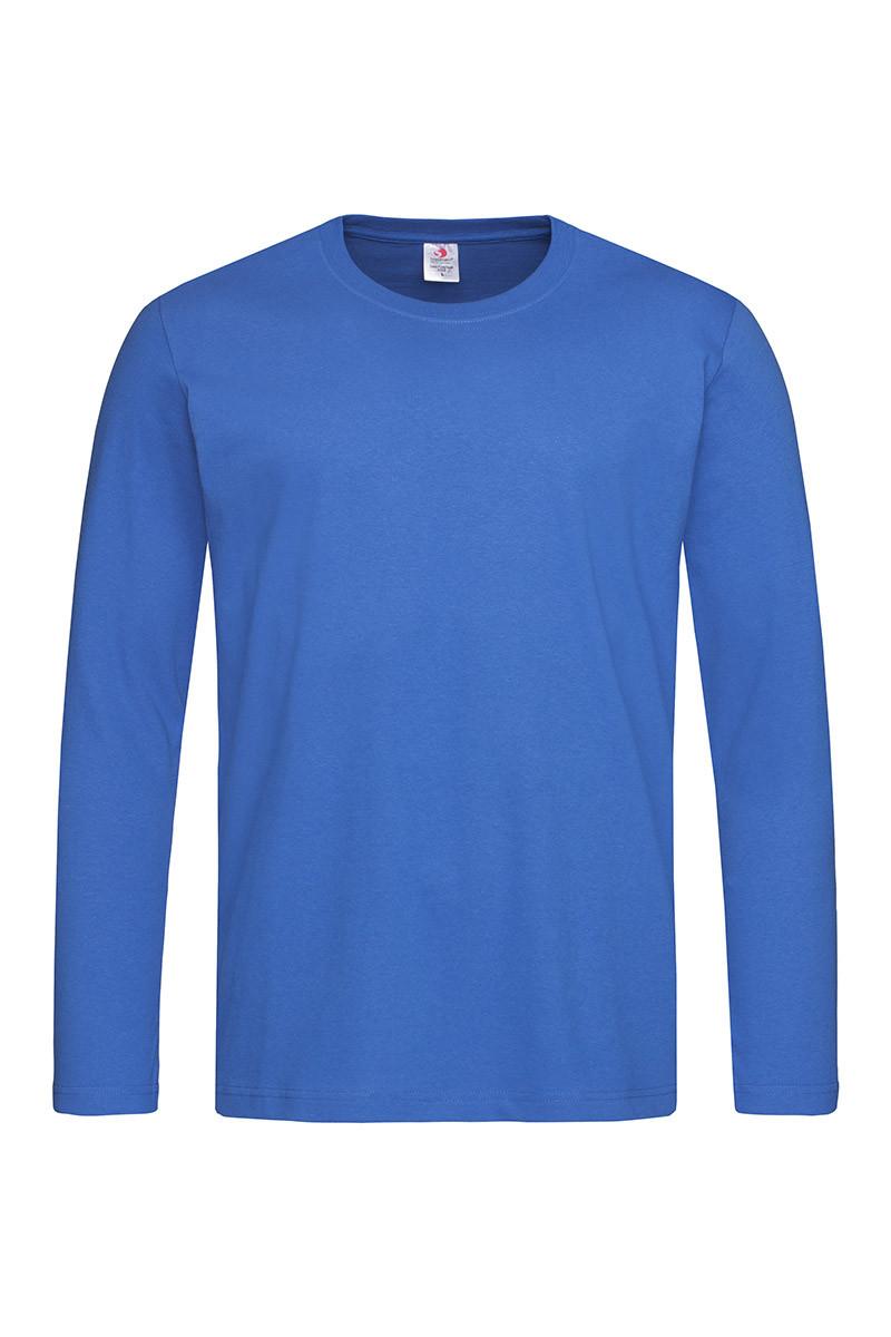 Футболка с длинным рукавом мужская ярко синяя Stedman - BRRCT2500
