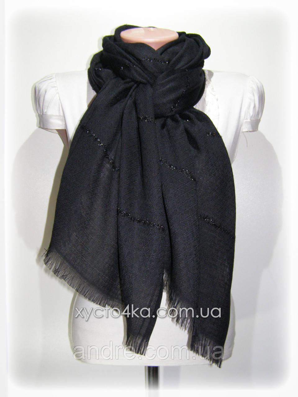 Однотонный шарф с люрексом Моника, чёрный