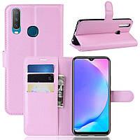 Чехол-книжка Litchie Wallet для Vivo Y17 / Y3 Pink