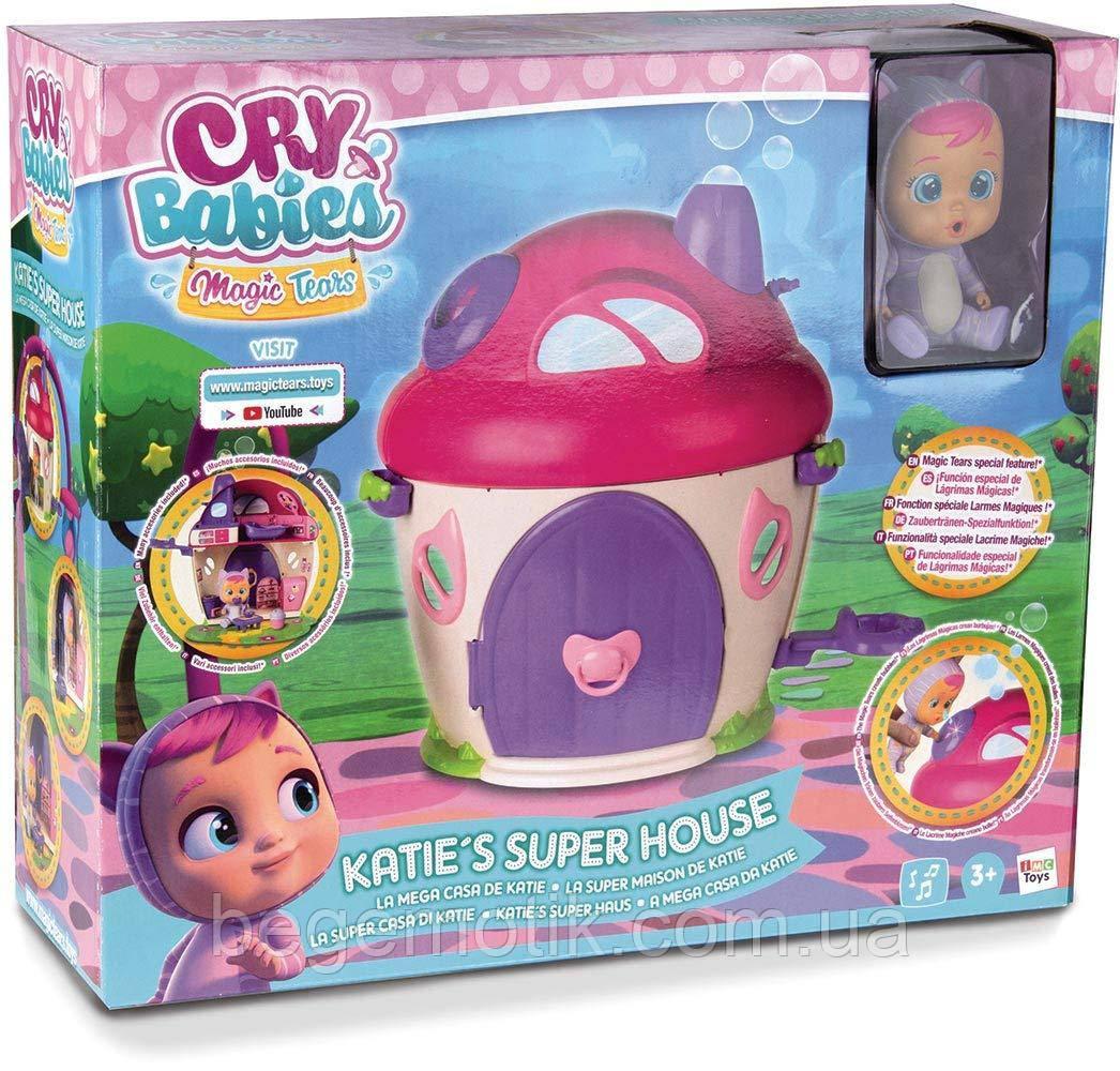 Cry Babies Игровой набор Плачущий младенец Кэти и домик Magic Tears Katie's House Playset (97940)