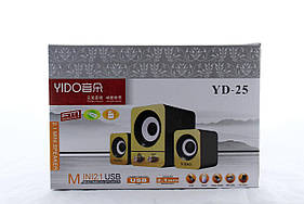 Колонки для ПК SPS YD 25 USB (30) в уп. 30шт.