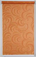 Готовые рулонные шторы Ткань Фестиваль Оранжевый 900*1500