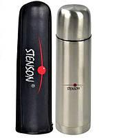 Термос питьевой 0,5 л + чехол (нержавеющая сталь, одна чашка) Stenson