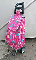 Господарська сумка - візок із ЗАЛІЗНИМИ колесами і СУЦІЛЬНОМЕТАЛЕВОМУ каркасі., фото 1