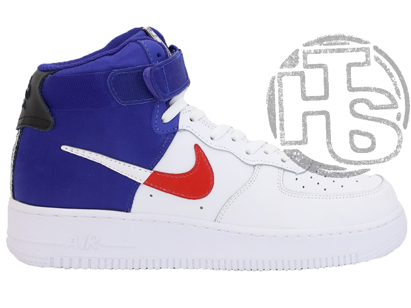 "Мужские кроссовки Nike Air Force 1 High '07 LV8 ""Clippers"" White/Blue BQ2730-101"