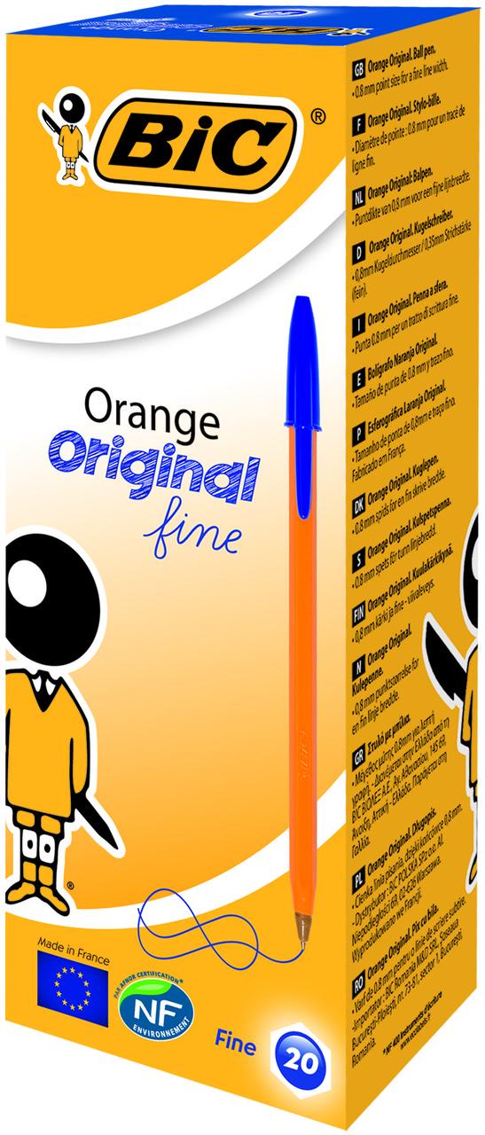 Ручка BIC Orange синяя (20 шт/уп)
