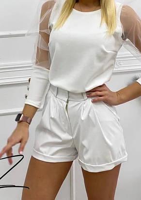 Жіночі ефектні шорти з кишенями (2 кольори), фото 2
