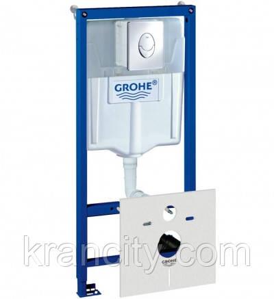 Инсталляция для унитаза GROHE 38750001  4 в 1