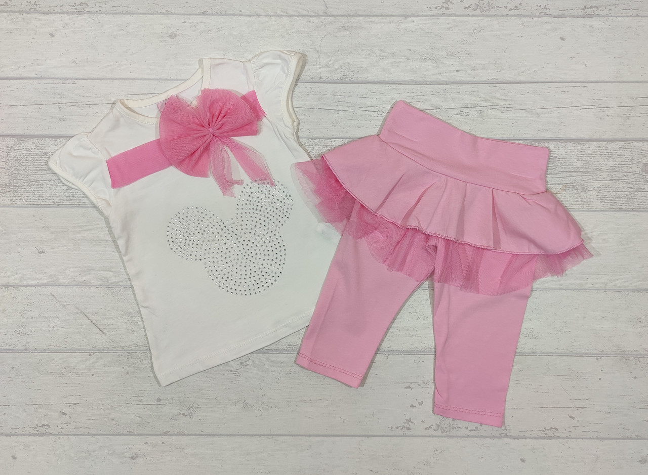 Детский костюм летний для девочку 2,3,4,5 лет.