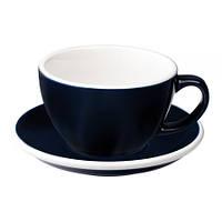 Чашка и блюдце для латте Loveramics Egg Denim 300 мл, фото 1