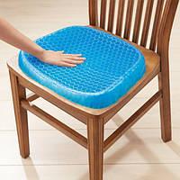 Подушка для сидения ортопедическая Офисная Гелевая Egg Sitter + чехол