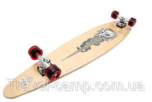 Лонгборд, скейтборд, круїзер (Longboard) з канадського клена, фото 2