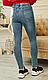 Женские  весенние джеггинсы , плотные, пояс резинка, средняя посадка р. 42,44,46,48 голубой, жіночі, фото 4